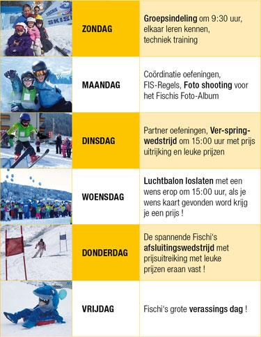 weekprogramma Skischool Flachau.